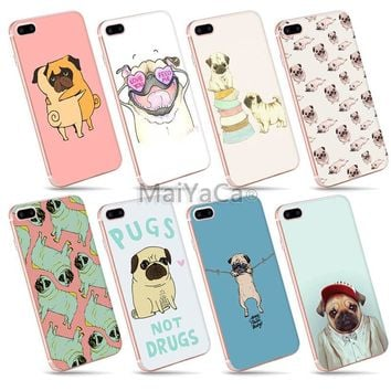 MaiYaCa Adorable Colored Drawing Hard Back Phone Accessories Cute little pug animals For iPhone 6s plus 6plus Case