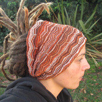 Rich earth tones Egyptian Patterned Dreadlock headband - FREE SHIPPING