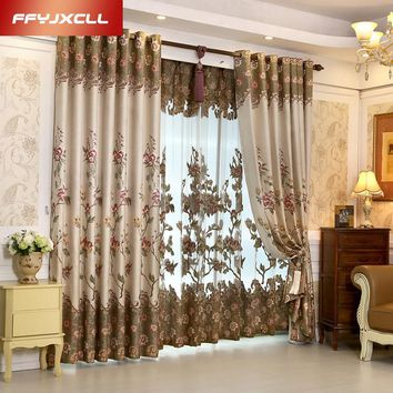 High Shading Cotton Linen Europe Luxury Embroidered Tulle