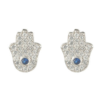 Closed Hamsa Earring