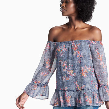 Off Shoulder Floral Peasant | Lucky Brand