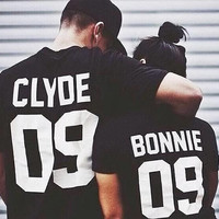Bonnie Clyde TShirts Couples Shirts Couple TShirt Matching Tshirt Couple Bonnie And Clyde Shirt.Couple Tshirt.Matching Couple.Couple TShirts