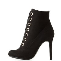 Lace-Up Stiletto Booties