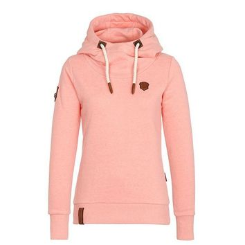 2017 New Autumn Winter Casual Solid Hoodies Women Zip-up Coats High Collar Hooded Cotton Ladies Fleece Jacket Moletom Plus Size