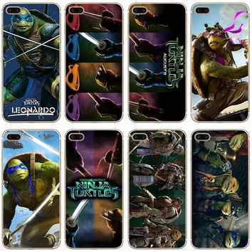 G306 Teenage Mutant Ninja Turtles Transparent Hard Thin Case Cover For Apple iPhone XR XS Max 4 4S 5 5S SE 5C 6 6S 7 8 X Plus
