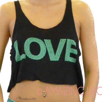 SIZE LARGE LAST ONE LOVE & Studs Mint Black Belly Shirt