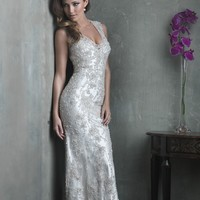 Allure Couture C304 Beaded Sheath Wedding Dress