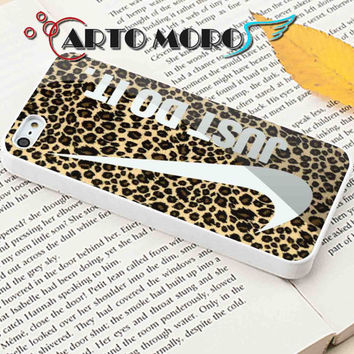 Design Nike Just Do It on leopard - iPhone 4/4S Case, iPhone 5/5S Case, iPhone 5C Case and Samsung Galaxy S3 i9300 Case, S4 i9500 Case.