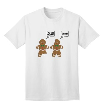 Funny Gingerbread Conversation Christmas Adult T-Shirt