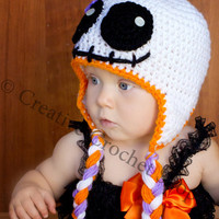 Baby Girl Ghost Skeleton Hat! (Babies First Halloween, Baby Girl Costume, BOO!!)