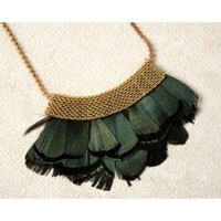 Tomahawk Feather Necklace