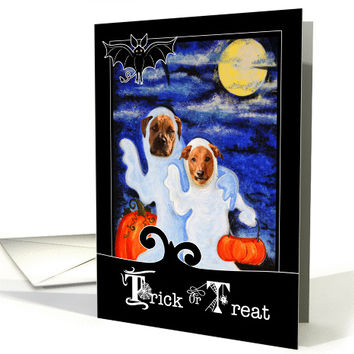 from the Pet - Halloween - Funny Ghost Dogs card