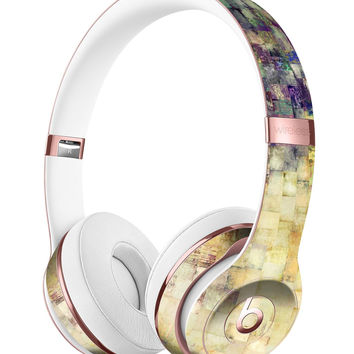 Grungy Abstract Purple Mosaic Full-Body Skin Kit for the Beats by Dre Solo 3 Wireless Headphones
