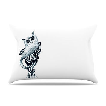 "Graham Curran ""Owl"" King Pillow Case - Outlet Item"
