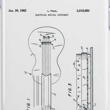 Gibson Les Paul Electric Guitar Patent 1962 by Claire Doherty