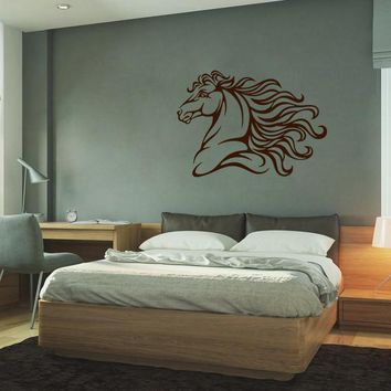 ik672 Wall Decal Sticker head horse nag pet stallion thoroughbred horse bedroom
