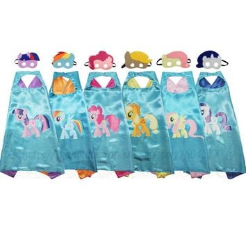 MLP Costumes capes and masks Birthday Party Favors for Kids