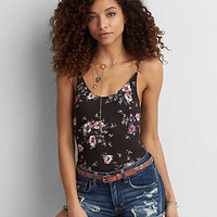 AEO Soft & Sexy Low Back Bodysuit , Floral