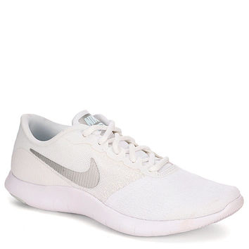 WHITE NIKE Womens Flex Contact Running Shoe