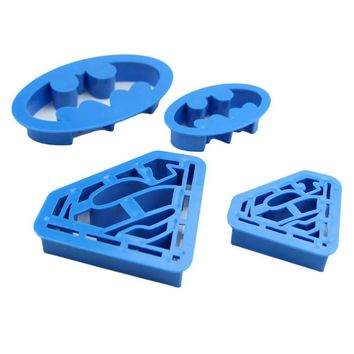 4 pcs /set Home Kitchen Baking & Pastry Tools Cookie Super Hero Batman Superman Cookie Cutters Sugarcraft Cake Decoration