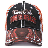 Farm Boy & Farm Girl Women's Farm Girl Horse Crazy Mesh Cap