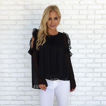 So Divine Blouse in Black