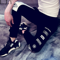 Harajuku Letters HBA Printed Black Harem Pants Women/Mens Casual Trousers Plus Size Pantalones Women Joggers joggers