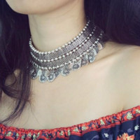 Vintage Bohemian Choker Necklace