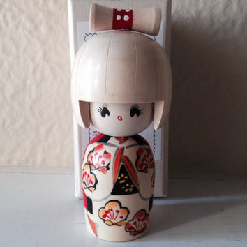 Wooden Japanese Kokeshi Doll in Box