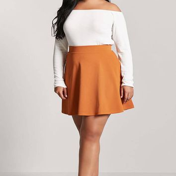 Plus Size Skater Skirt