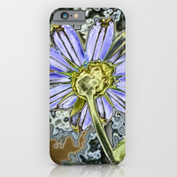Purple Glow Daisy  iPhone & iPod Case by KCavender Designs
