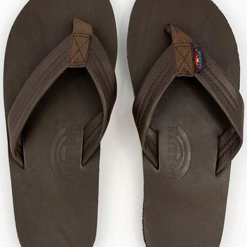 Classic Leather Single Layer Arch Sandal in Mocha by Rainbow Sandals