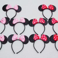 10 Minnie Mouse Ears Headband_ High Quality Minnie Ears for Picture, Dress up, Theme Birthday Party