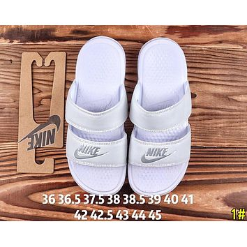 NIKE Fashion Women Men Casual Flats Slipper Sandals Shoes 1#
