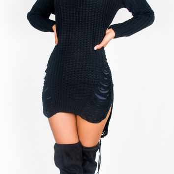 Demi Destroyed Sweater Tunic
