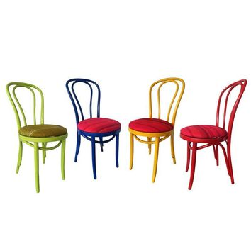Pre-owned 4 Vintage Bentwood Cafe Chairs in Marimekko