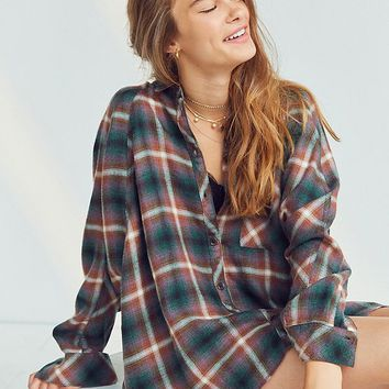 BDG Brendan Cozy Flannel Button-Down Shirt   Urban Outfitters