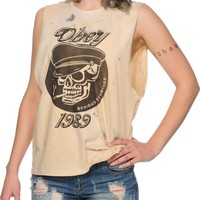 Obey Devious Scumbags Dirty Wash Muscle Tee