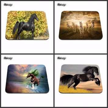 Horse On Hind Legs Fashion Desk  Custom Gaming Mouse Pads for Size 18*22cm and 25*29cm Lasting Computers and Laptops Mouse Pad