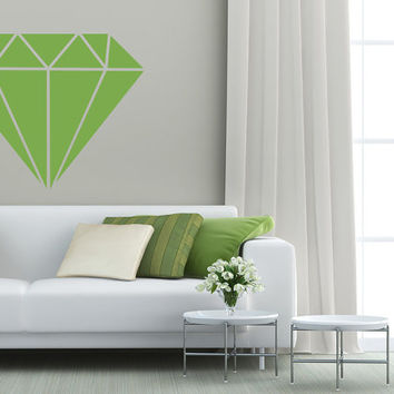Geometric Diamond Wall Decal, Diamond Dorm Decor, Modern Nursery Decor, Wedding Wall Decor, Office Wall Decor