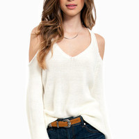Cold Shoulder Oversized Sweater $58
