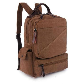 070517 new hot man canvas travel backpack student school bag