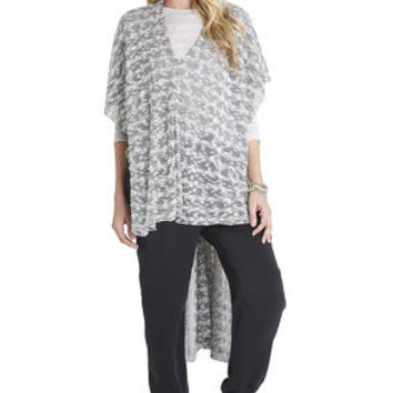 Kool Knit Wrap Poncho in Black - BCBGeneration