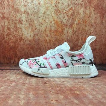 DCCKBE6 Adidas Boost Nmd x Chinese Blossom W Women Men Fashion Trending Running Sports Shoes