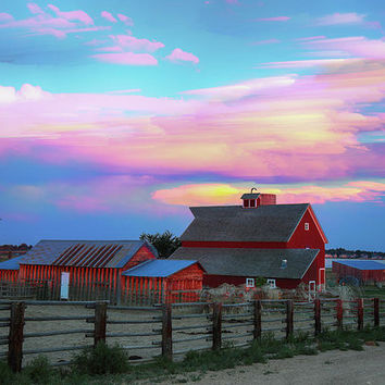 Ghost Horses Pastel Sky Timed Stack Art Print