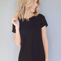 City Lights Pocket Tee Black