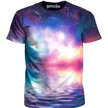 Ripple In Space Water Galaxy Unisex T-Shirt