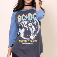 Junk Food ACDC Highway to Hell Raglan