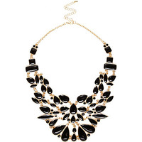 River Island Womens Black enamel statement necklace