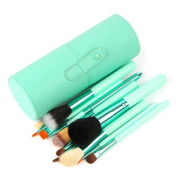 Shevault 12 pcs Makeup Brush Set with leather holding case